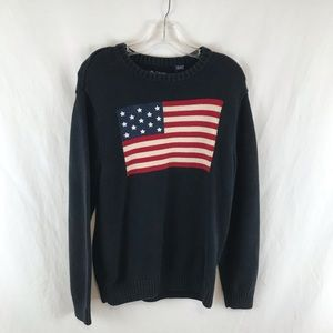 Vintage Chaps American Flag Cardigan